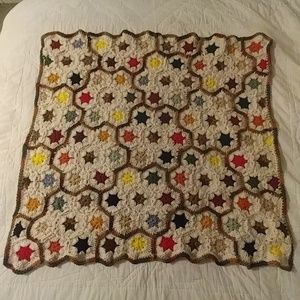 Crochet baby afghan - multi colored